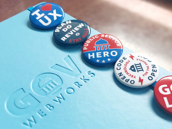 GovWebworks Buttons designed for the 2018 ISM Conference