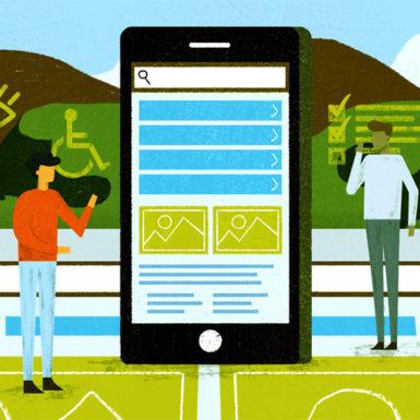 Illustration supporting Website Modernization