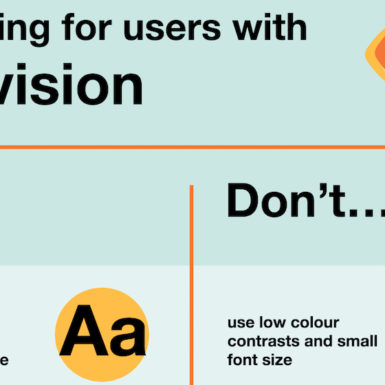 Designing for users with low vision