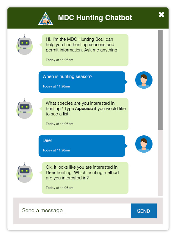MDC Hunting Chatbot