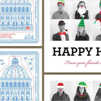 Various GovWebworks Holiday cards