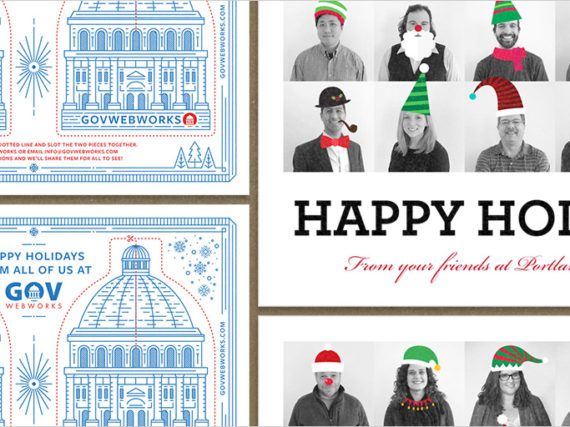 Various GovWebworks Holiday cards