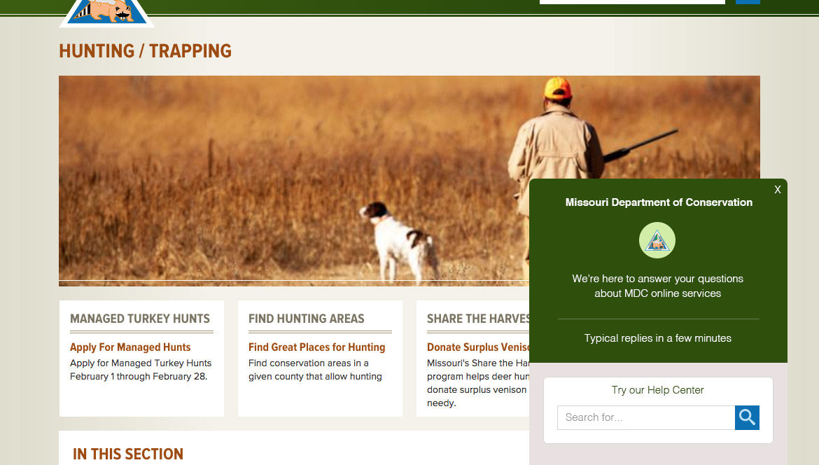 Missouri Department of Conservation website
