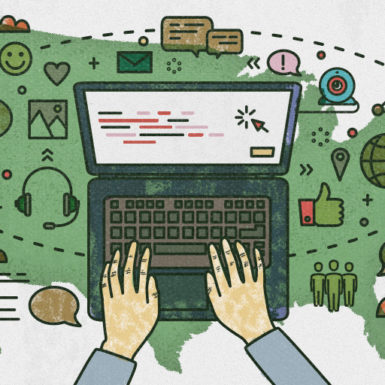 Illustration to support A Day in the Life of a Remote Worker