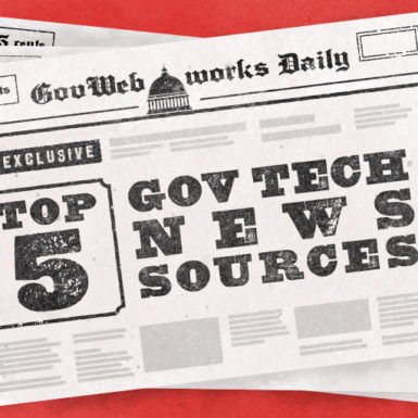Illustration to support Top 5 Gov Tech News Sources