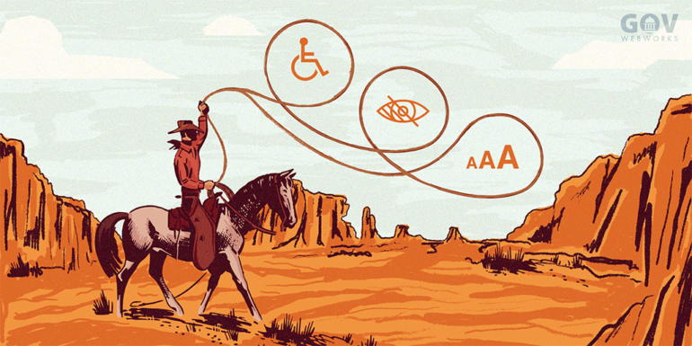An illustration representing the challenges of wrangling Public Sector websites into Compliance