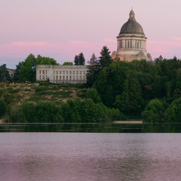 A view of Washington State capitol