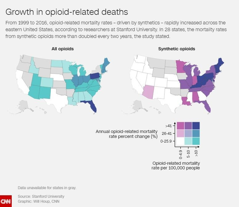 Growth in Opioid-Related Deaths