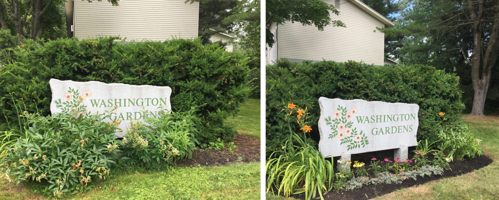 Washington Gardens Before and After