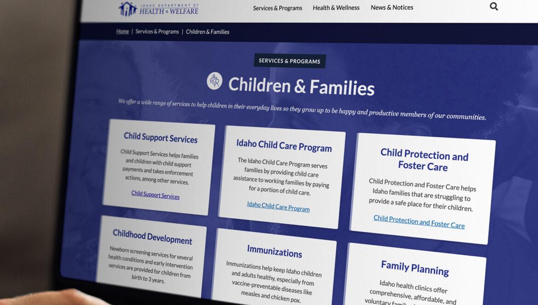 Idaho Department of Health and Welfare website
